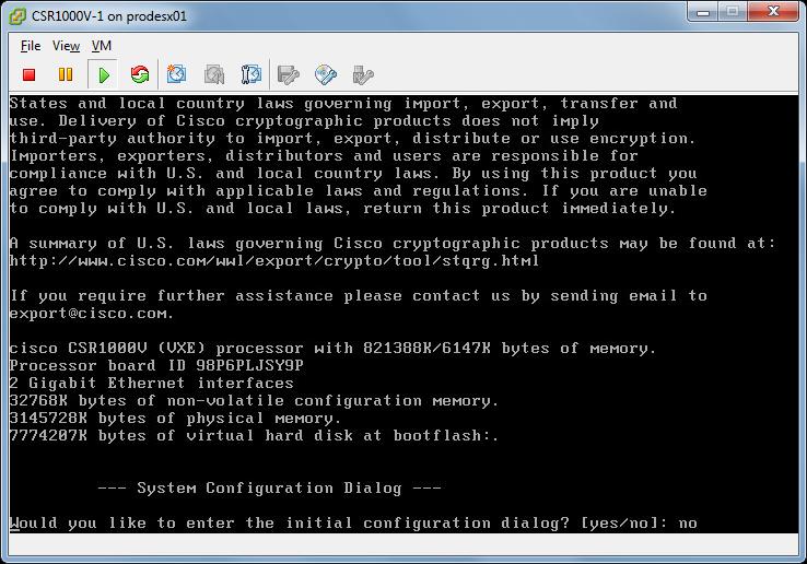 How to deploy Cisco CSR1000V & HP VSR1000 Virtual Service Router