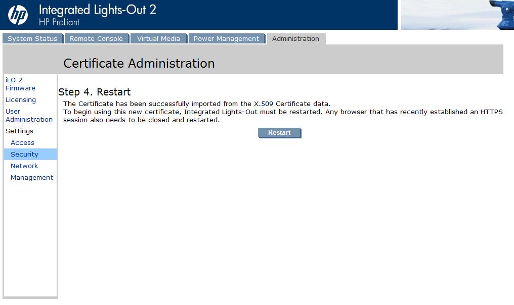 Replace Hp Ilo Security Certificates Vcloudnine
