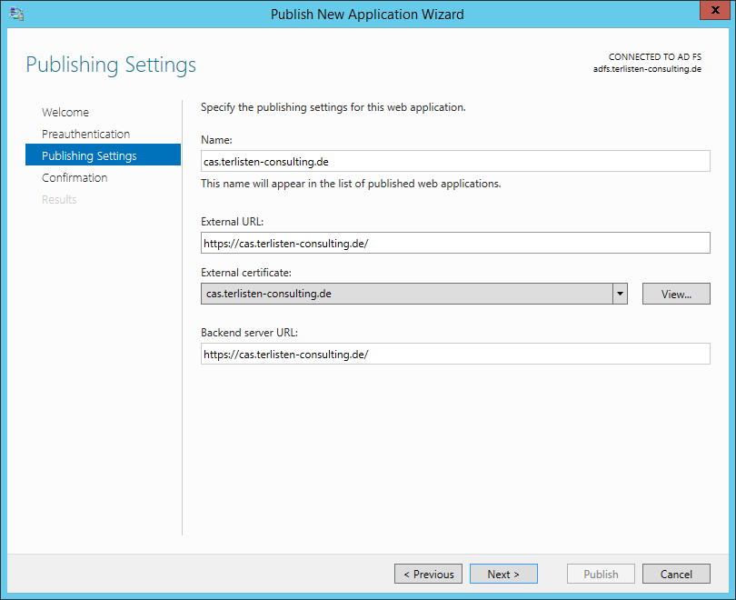Publishing Outlook Web Access with Microsoft Web Application