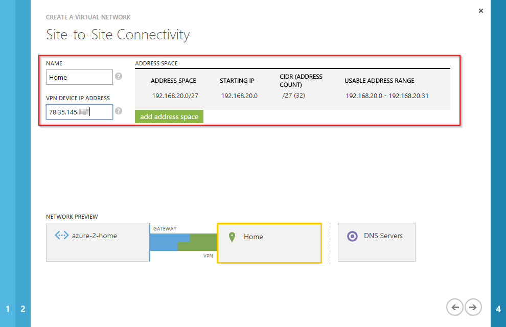 Connect an on-premises network to Microsoft Azure with a site-2-site