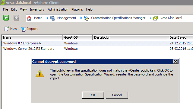 Guest customizations fails after upgrade to VMware vSphere 6
