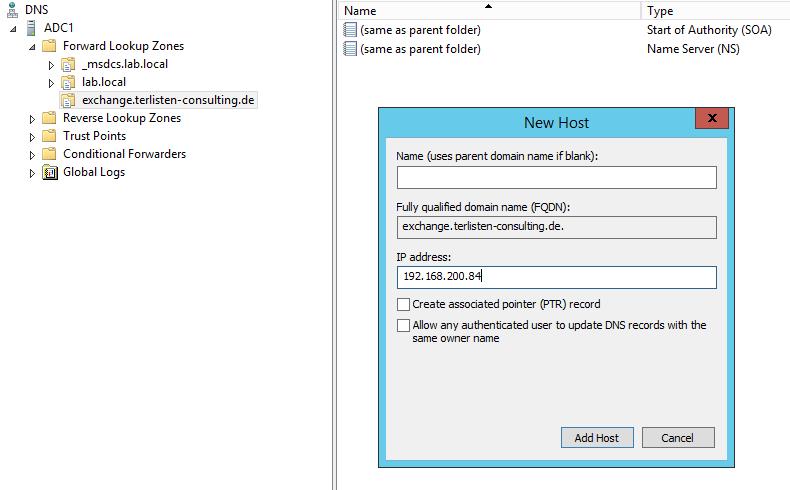 Setting up split DNS using Windows DNS server | vcloudnine de