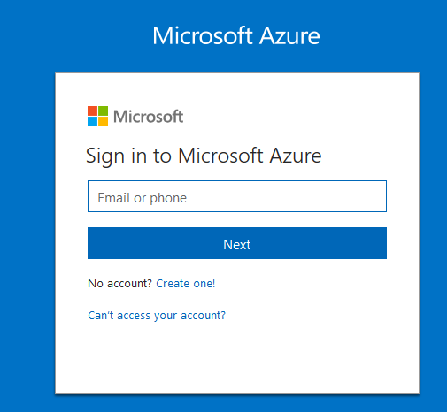 Sign in to Microsoft Azure