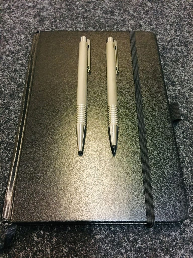 Notebook and LAMY Pens